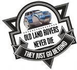Koolart OLD LAND ROVERS NEVER DIE Slogan For Land Rover Freelander Series 2 External Vinyl Car Sticker Decal Badge 100x100mm
